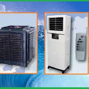 Raffrescatori evaporativi fissi e mobili